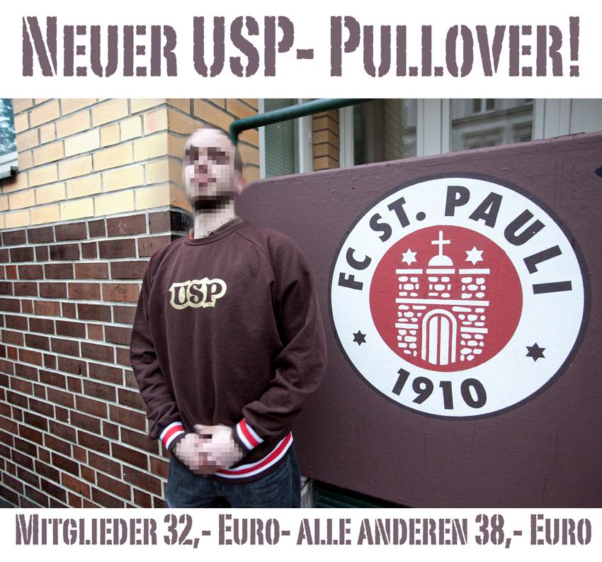 Neuer USP - Pullover, Mitglieder 32 EUR, alle anderen 38 EUR
